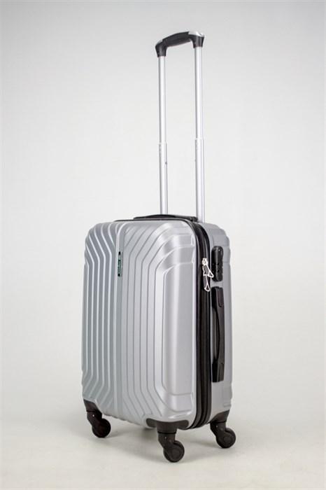 Чемодан маленький ABS Корона (Лилия) серебро ЧФ - фото 38049