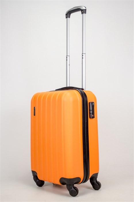 Чемодан маленький ABS Passion (7 верт. полос) оранжевый - фото 38112