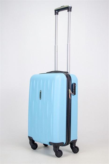 Чемодан маленький ABS OCCE (черточки) небесно голубой ЧФ - фото 38126