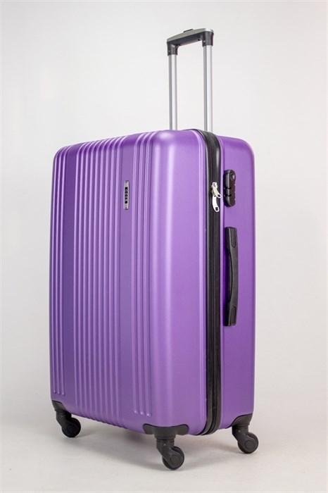 Чемодан большой ABS OCCE (15 полос) фиолетовый ЧФ - фото 38240