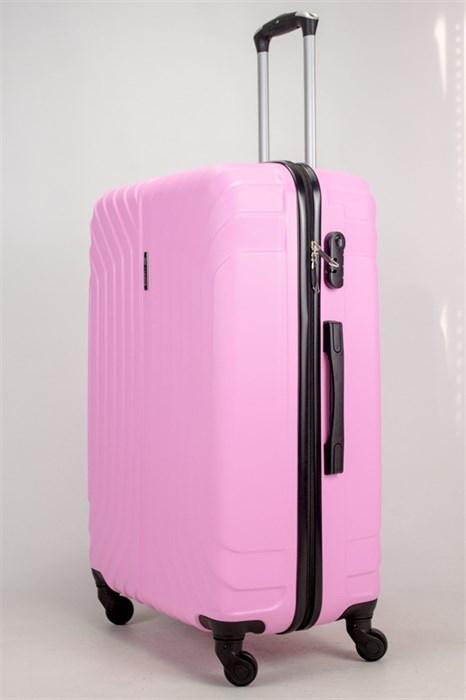 Чемодан большой ABS Корона (Лилия) розовый - фото 38260