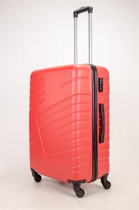 Чемодан большой ABS OCCE (вафли) красный ЧФ - фото 38358