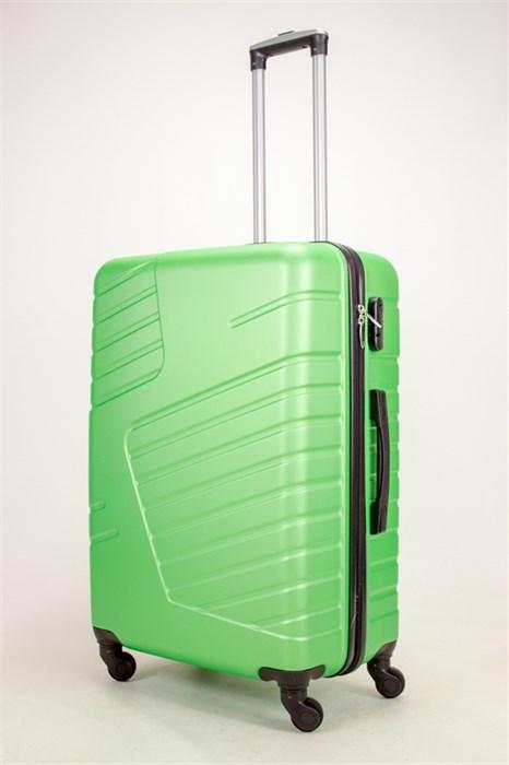 Чемодан большой ABS OCCE (вафли) зеленый ЧФ - фото 38365