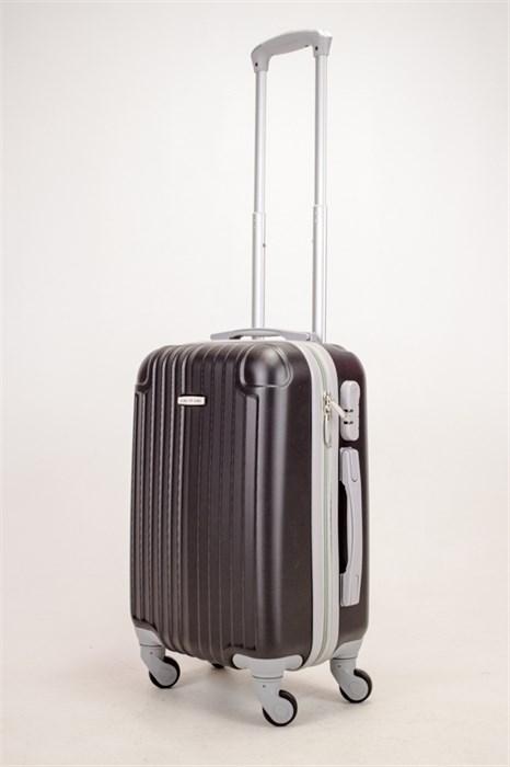Чемодан маленький ABS KK (8 полос и уголки) черный (С) - фото 38393