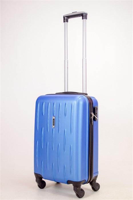 Чемодан маленький ABS OCCE (черточки) синий ЧФ - фото 38400