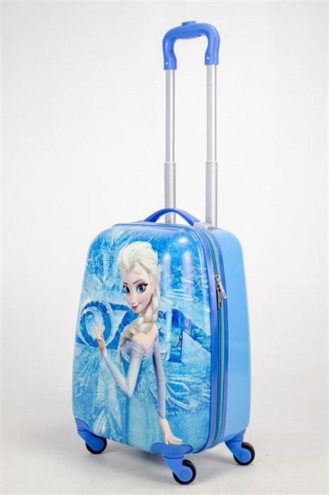 Детский чемодан PC на колесиках синий - фото 38481