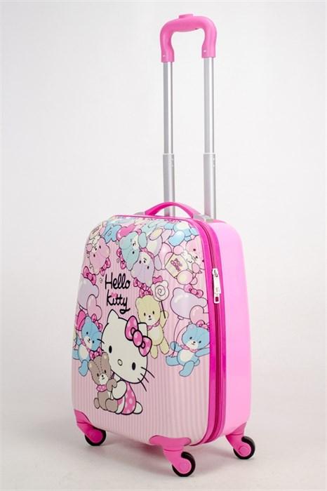 Детский чемодан PC на колесиках розовый - фото 38494