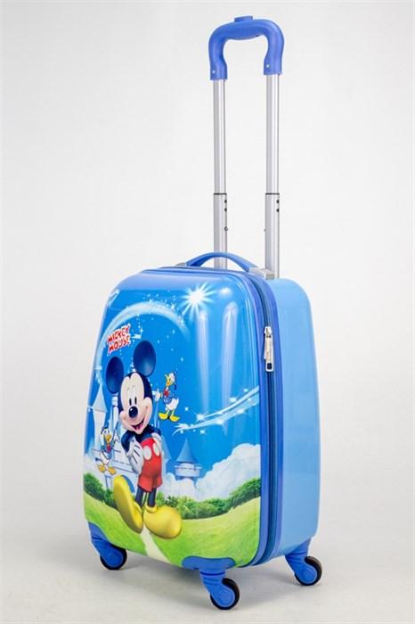 Детский чемодан PC на колесиках синий - фото 38548