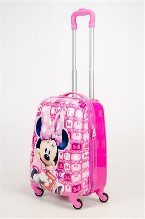 Детский чемодан PC на колесиках розовый - фото 38576