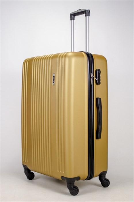 Чемодан большой ABS OCCE (15 полос) золотой ЧФ - фото 38701