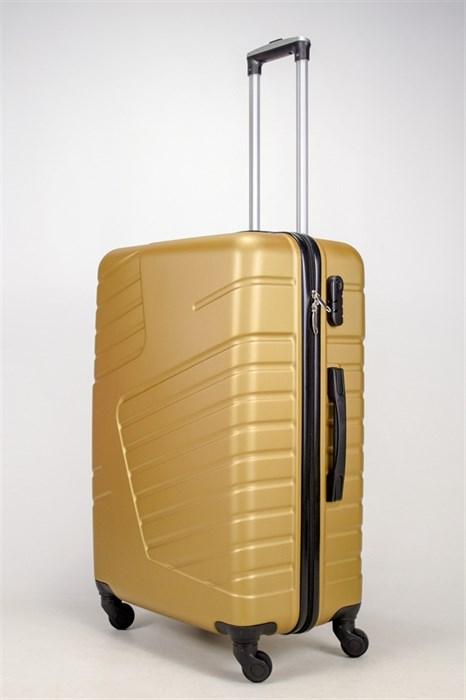 Чемодан большой ABS OCCE (вафли) золотой - фото 38708
