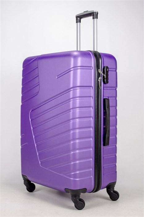 Чемодан большой ABS OCCE (вафли) фиолетовый - фото 38722
