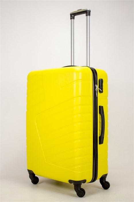 Чемодан большой ABS OCCE (вафли) желтый ЧФ - фото 38830
