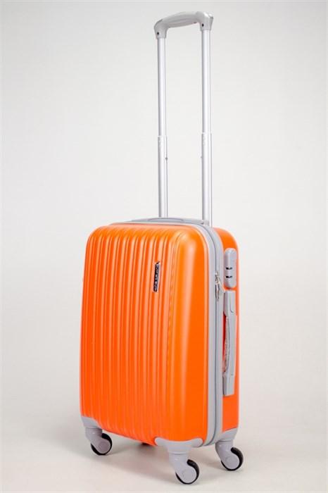 Чемодан маленький ABS TT (верт  полосы) оранжевый - фото 38988