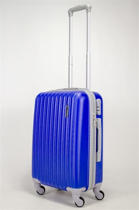 Чемодан маленький ABS TT (верт полос) синий - фото 38995