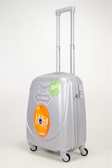 Чемодан маленький ABS 360-гр smile серебро - фото 39009