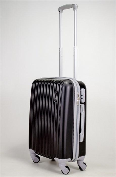 Чемодан маленький ABS TT (верт  полоски) черный СФ - фото 39065