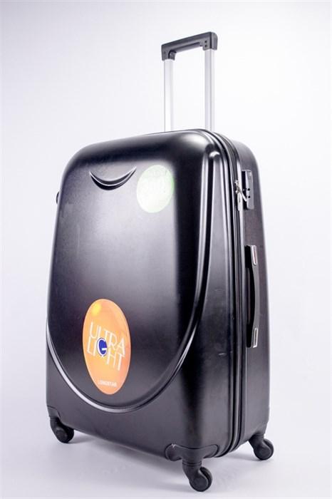 Чемодан большой ABS 360-гр smile  черный - фото 39498