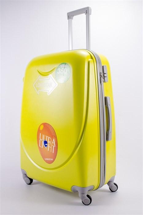 Чемодан большой ABS 360-гр smile желтый - фото 39505