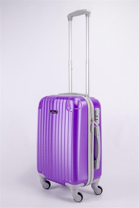 Чемодан маленький ABS KK (5(4) полос)  фиолетовый - фото 39603