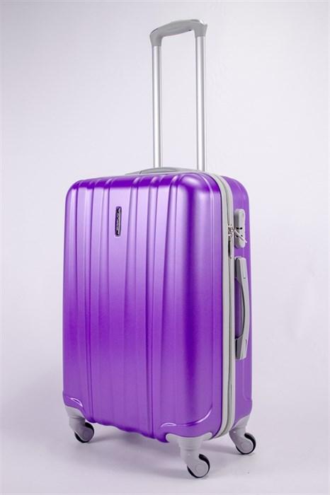 Чемодан средний ABS KK 6 полос фиолет - фото 39630