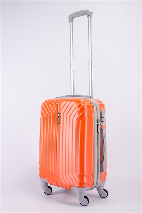 Чемодан маленький ABS Корона (Лилия) оранжевый - фото 39659