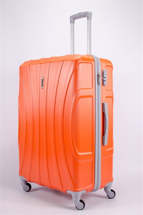 Чемодан большой ABS KK (черепаха) оранжевый - фото 39768