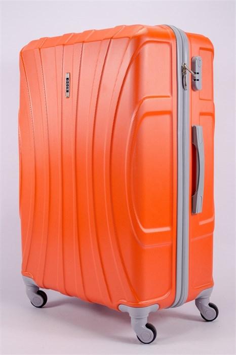 Чемодан большой ABS KK (черепаха) оранжевый - фото 39769