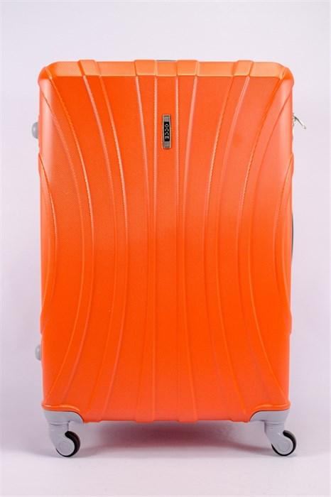 Чемодан большой ABS KK (черепаха) оранжевый - фото 39770