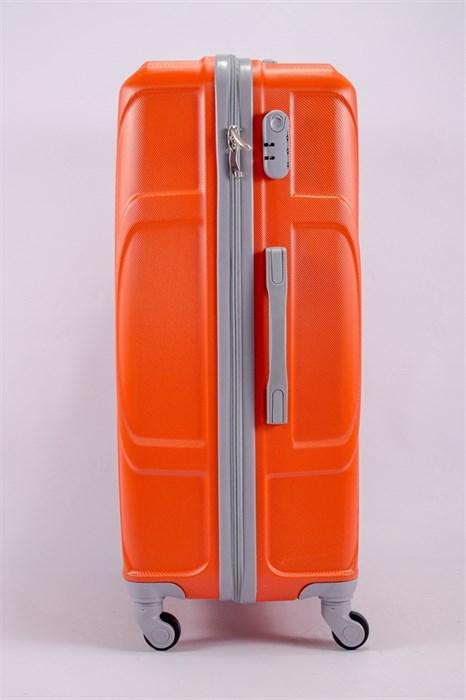Чемодан большой ABS KK (черепаха) оранжевый - фото 39772