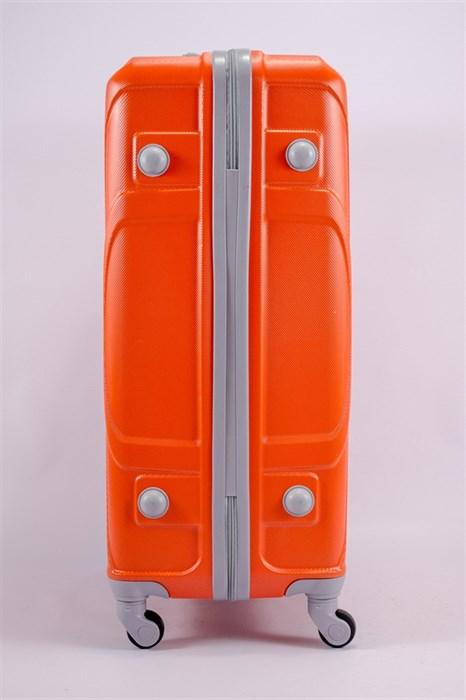 Чемодан большой ABS KK (черепаха) оранжевый - фото 39773