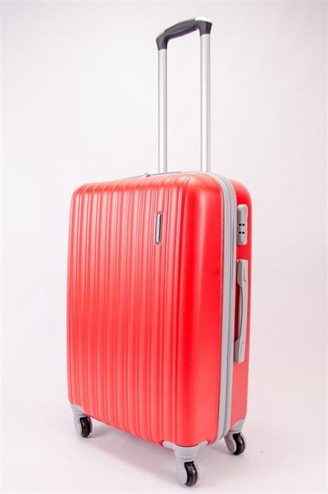 Чемодан средний ABS TT (верт  полоски) красный - фото 39849
