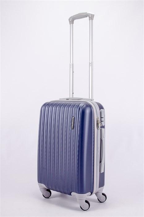 Чемодан маленький ABS TT (верт  полоски) темно-синий СФ - фото 40145
