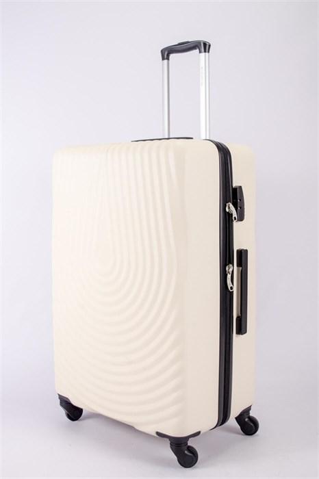 Чемодан большой ABS MIRONPAN (капля) бежевый - фото 40405