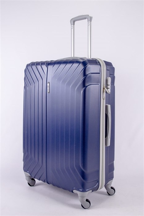 Чемодан большой ABS Корона (Лилия) темно-синий - фото 40475