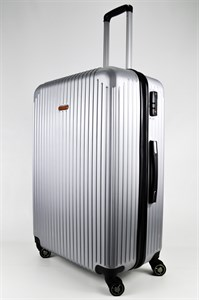 Чемодан большой ABS NL серебро
