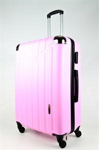 Чемодан большой ABS Корона розовый