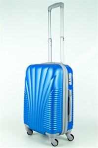 Чемодан маленький PC+ABS Maggie ракушка голубой