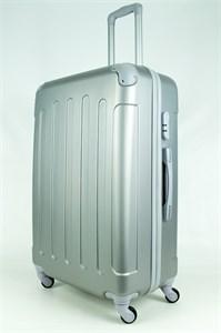 Чемодан большой PC+ABS MAGGIE N5 серебро