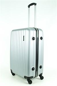 Чемодан средний ABS KK (верт полосы) серебро