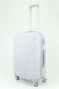 Чемодан средний PC+ABS MAGGIE ракушка серый