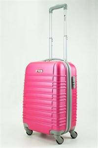 Чемодан маленький ABS GC прод  полос  розовый