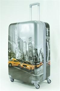Чемодан большой ABS Рисунок Такси