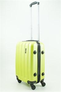 Чемодан маленький ABS Journey (верт  полоски) зеленый