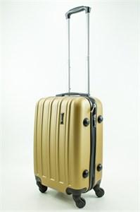 Чемодан маленький ABS Journey (верт  полоски) золото