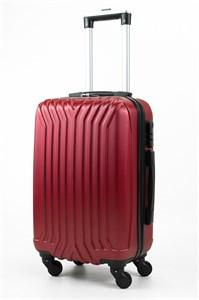 Чемодан маленький ABS (У-образный, коротк  ручка) бордовый