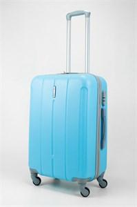 Чемодан средний ABS KK (три полоски) голубой