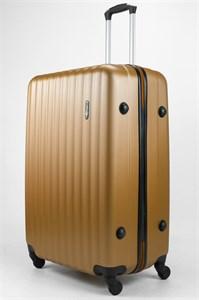 Чемодан большой ABS TT (верт  полоски) золотой