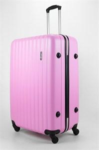 Чемодан большой ABS TT (верт  полоски) розовый