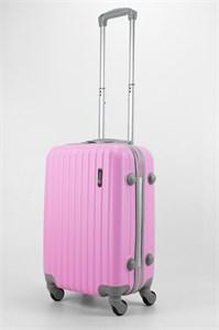 Чемодан маленький ABS TT (верт  полоски) розовый